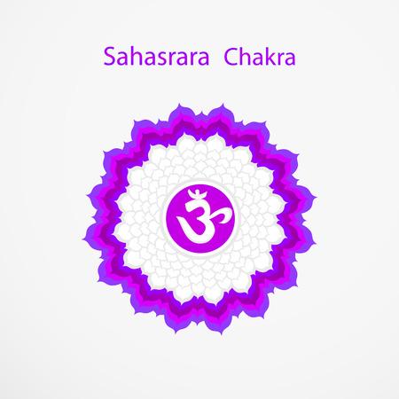 sahasrara: Symbol of Sahasrara chakra vector