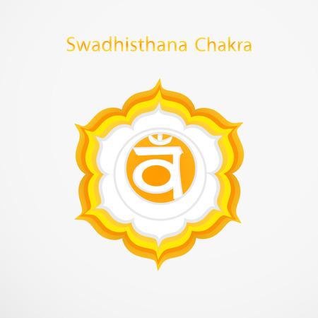 swadhisthana: S�mbolo de Swadhisthana chakra vector