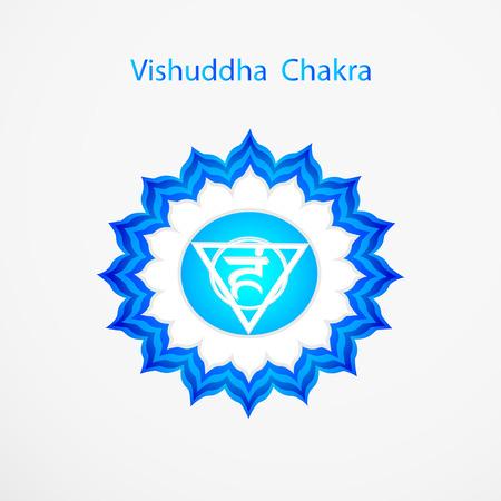 vishuddha: Symbol of Vishuddha chakra vector
