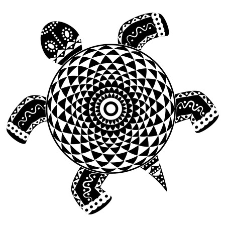 Decorative abstract turtle