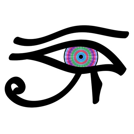 third eye: Eye of Horus, vector Illustration
