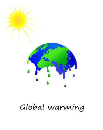 Melting earth, global warming Vector