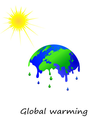 Melting earth, global warming