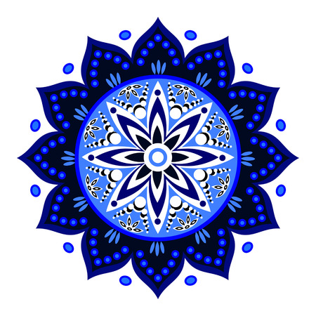 indian blue: Beautiful Indian blue ornament Illustration
