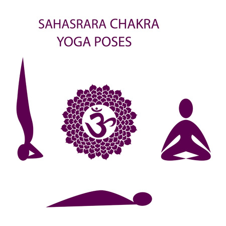Yoga houdingen weer Sahasrara chakra activering