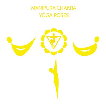 activacion: Las posturas de yoga para la activaci�n del chakra Manipura Vectores