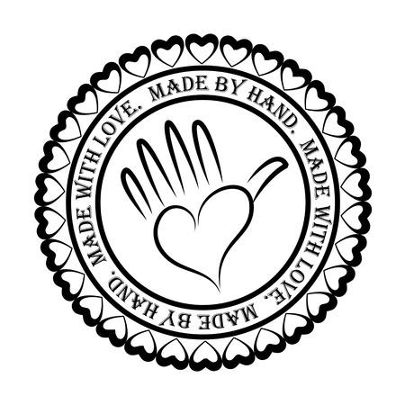 Handgemaakte Stamp Stock Illustratie