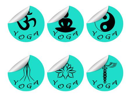 kundalini: Stickers set of YOGA Illustration