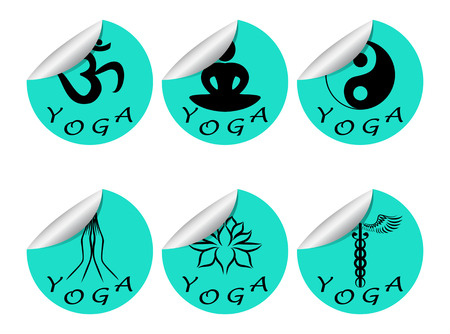 Stickers set of YOGA Illustration