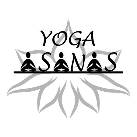 energy healing: Yoga asanas symbol