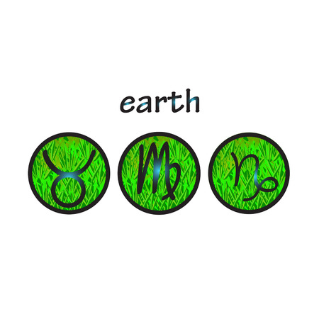 Horoscope Symbols Earth Element Taurus Virgo Capricorn Royalty