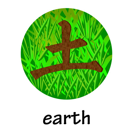 hieroglyph: Chinese hieroglyph EARTH Illustration