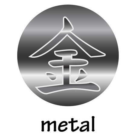 hieroglyph: Chinese hieroglyph METAL