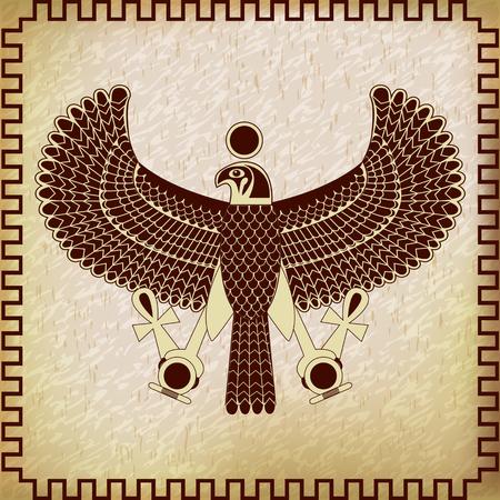 horus: Ancient egyptian symbol of Horus the falcon god
