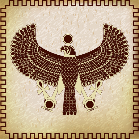 Ancient egyptian symbol of Horus the falcon god