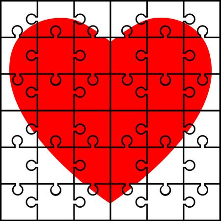 puzzle heart: Puzzle heart
