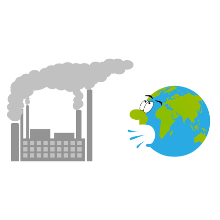 Factory exhaust and coughing earth.