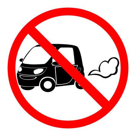 idling: no idling or idle reduction sign, vector illustration Illustration