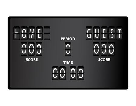 soccer stadium: Soccer scoreboard for stadium Illustration