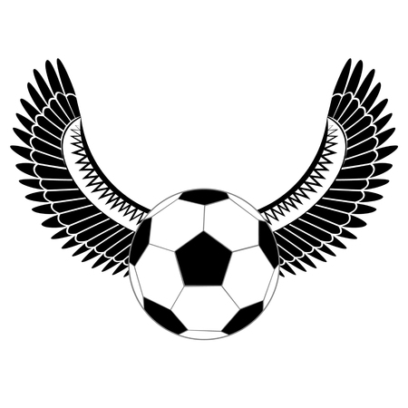 footy: Soccer ball with wings. Illustration