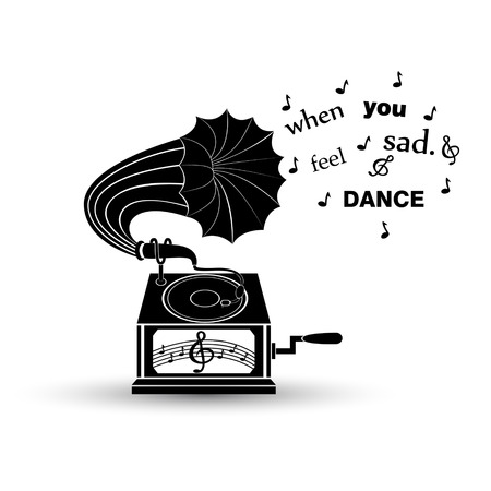 philosophy of music: When you feel sad. Dance. Inspiration quote.