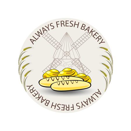 fresh bread: Fresh bread icon Illustration