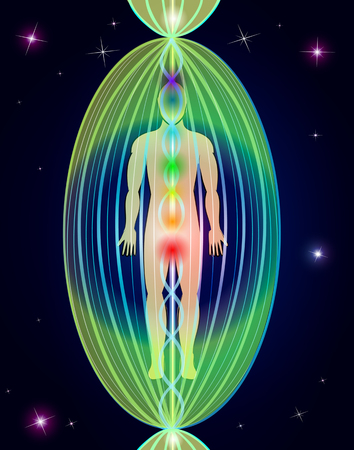 mind body soul: Human aura Illustration