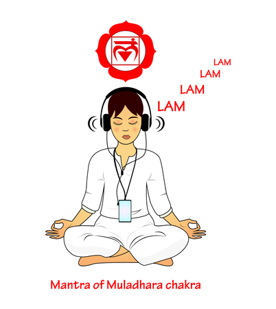 mantra: Meditating women. Muladhara mantra LAM
