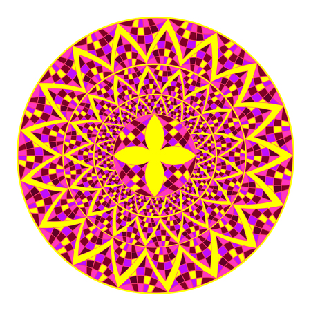 mandala: Mosaic mandala ornament