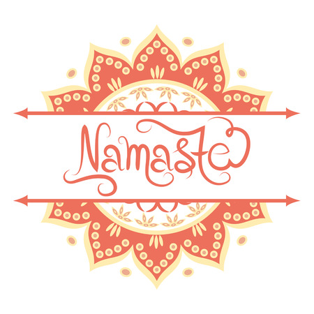 namaste: Indian greeting banner Namaste