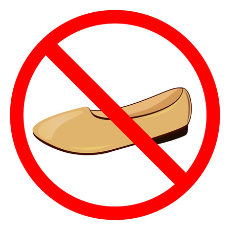 prohibitive: Sign No Shoes