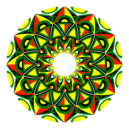 Beautiful round geometric ornament, Mandala.
