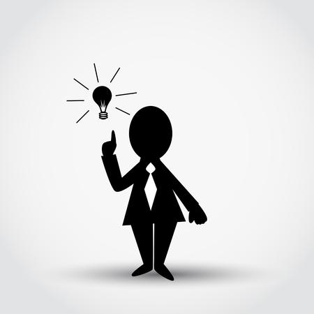 Businessman and idea. Business concept vector