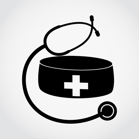 nursing clothes: Illustration of medical hat with stethoscope
