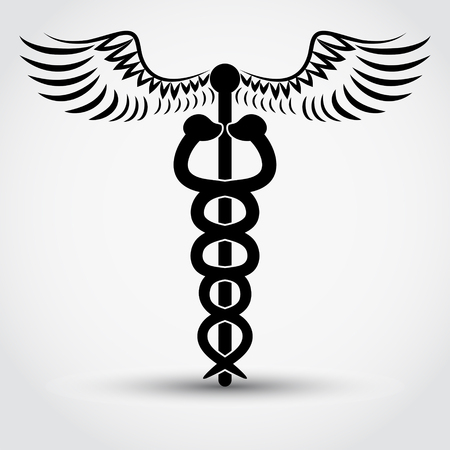 caduceus medical symbol: caduceus - medical symbol