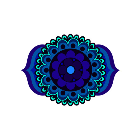third eye: Ajna chakra vector illustration