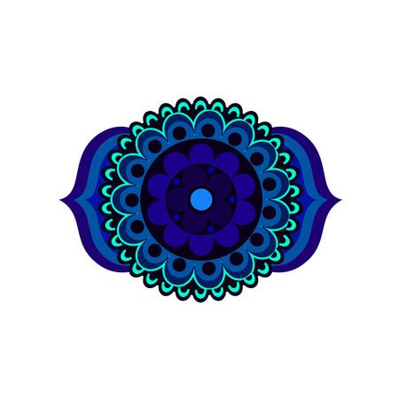 Ajna chakra vector illustration