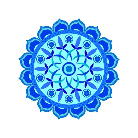 vishuddha: Vishuddha chakra vector illustration
