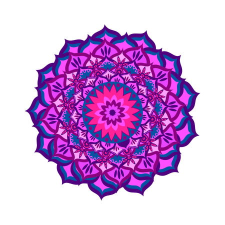 sanskrit: Sahasrara chakra vector illustration Illustration