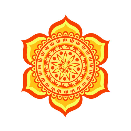 sanskrit: Swadhisthana chakra vector illustration