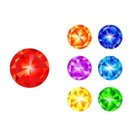 jewels: Vector set of colorful shiny jewels.