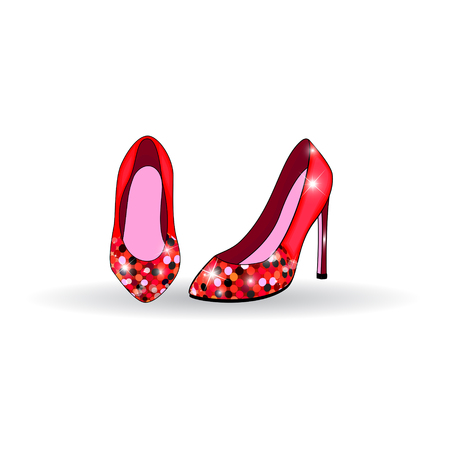 high heel shoes: Red high heel shoes