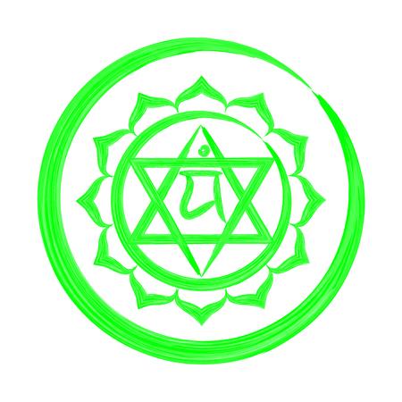 Anahata chakra vector illustration Illustration
