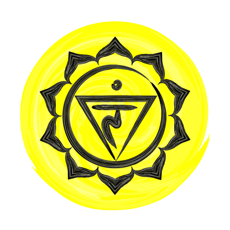 manipura: Manipura chakra vector illustration Illustration
