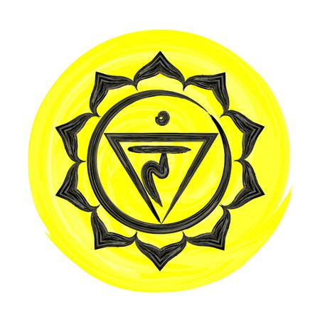 manipura: Manipura chakra vector illustration Illustration