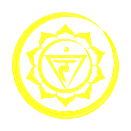Manipura chakra vector illustration Illustration