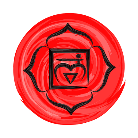 Muladhara chakra vector illustration  イラスト・ベクター素材