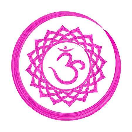 Sahasrara chakra vector illustration Illustration