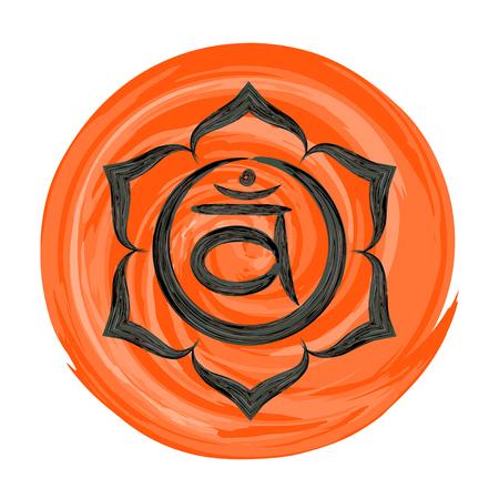 sexualidad: Swadhisthana ilustración vector de chakra