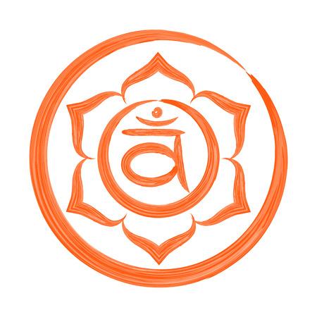 swadhisthana: Swadhisthana chakra vector illustration